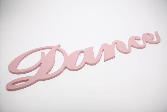 wooden words - dance sign - dance decor