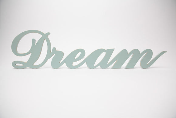 wooden words - dream sign - wooden sign - wedding decor