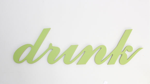 wooden words - wooden sign - drink - kitchen decor