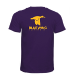 BLUE WING Logo Tee - HEATHERED PURPLE