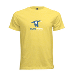BLUE WING Two Tone Logo Tee - SPRING YELLOW