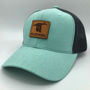 BLUE WING Aqua Slate w/Tan Leather Patch