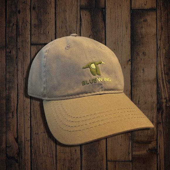 Blue Wing Classic Ball Cap Teal Logo-Olive