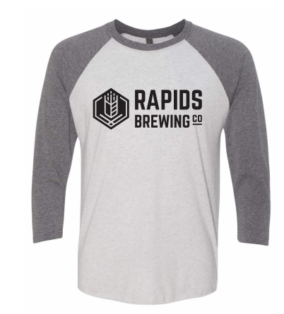 Grey/White Raglan