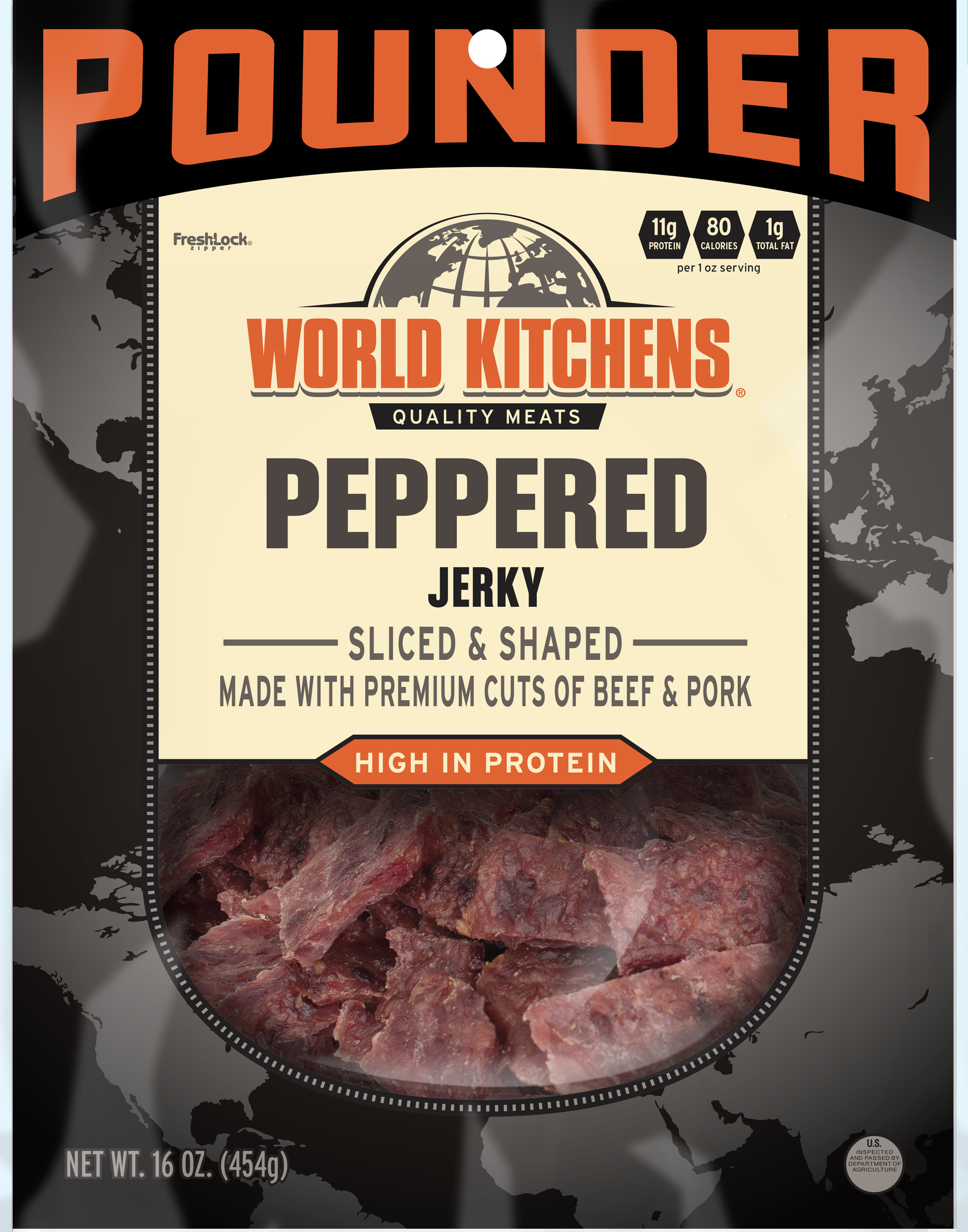 World Kitchen's 16oz Peppered Jerky