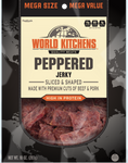 World Kitchen's 10oz Peppered Jerky Front