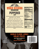 World Kitchen's 3oz Peppered Jerky Back
