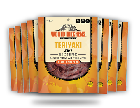 World Kitchen's 3oz Teriyaki Jerky 8ct