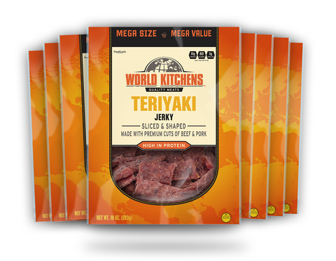 World Kitchen's 10oz Teriyaki Jerky 8ct