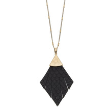 Load image into Gallery viewer, Helena Pendant Necklace In Black Leather