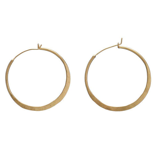 Organic Hoops - Gold