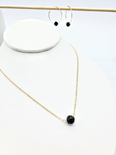 One Bead Necklace - black