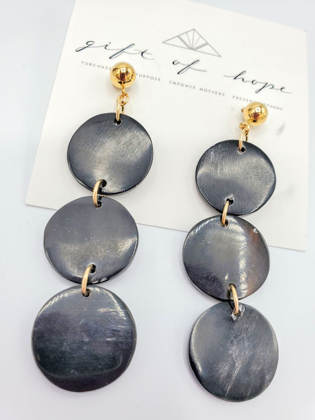 Mika Earrings - Black