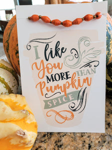 Pumpkin Spice Card and Bracelet