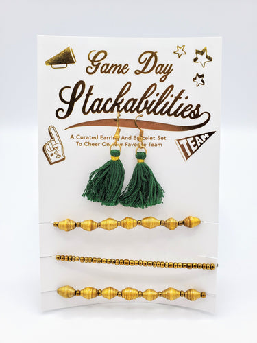 Gameday Tassel Earrings and Bracelet Set