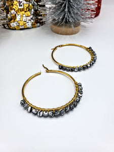 Lexi Zebra Hoop Earrings