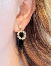 Load image into Gallery viewer, Simply Sparkly Stud Hoops