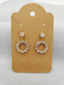 Simply Sparkly Stud Hoops