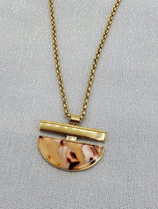 Melanie Pink Pendant Necklace