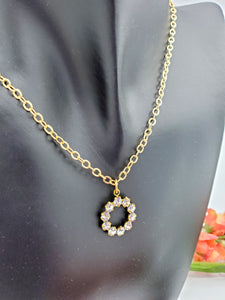 Simply Sparkly Hoop Necklace