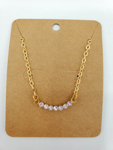 Simply Sparkly Curved Bar Necklace