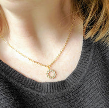 Load image into Gallery viewer, Simply Sparkly Hoop Necklace