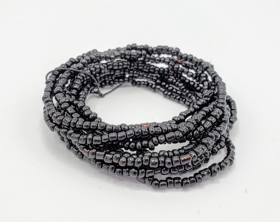 Seed Bead Stacking Bracelets - Black