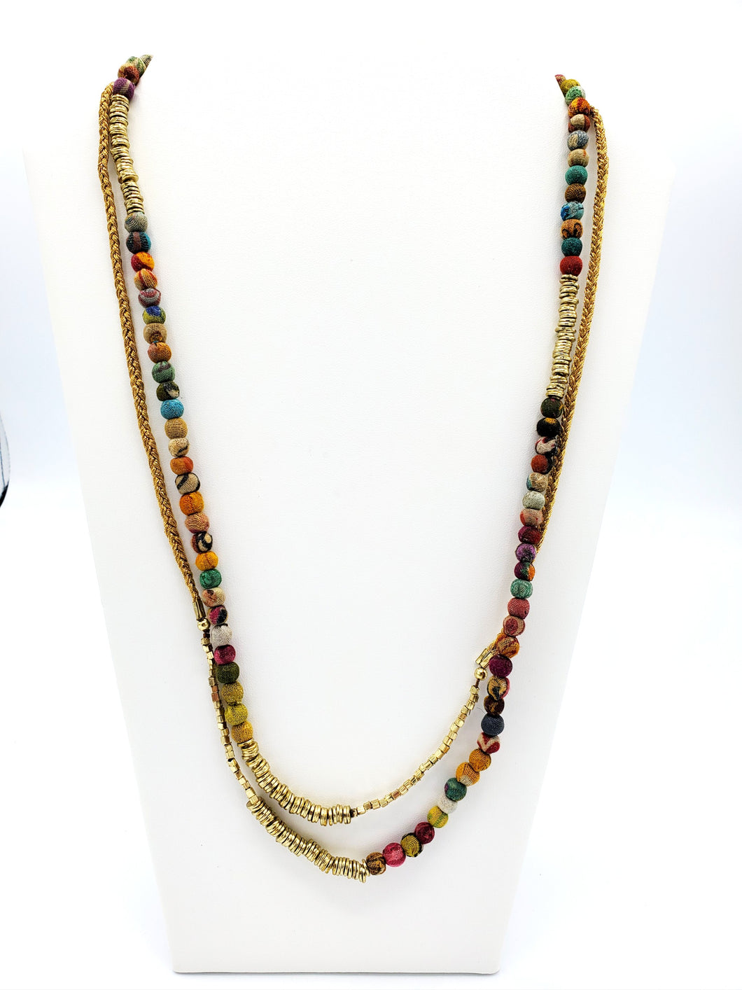 Kantha Tassel Wrap Necklace