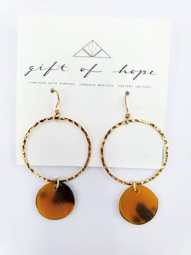 Leyla Earrings - Caramel