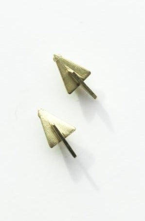 3D Triangle Stud Earrings