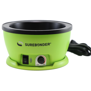 "Surebonder Adjustable Temp Electric Hot Melt Glue Skillet - 5-1/4"" Diameter"