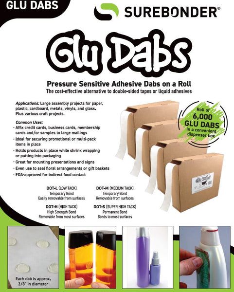 Surebonder Glue Dabs - Temporary & Permanent Bond