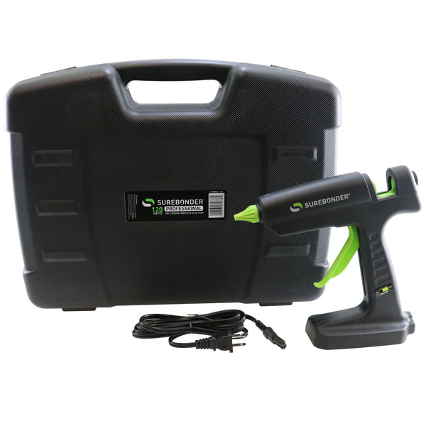 HYBRID-120 120 Watt Corded/18 Volt Lithium Ion Cordless Hybrid Professional Heavy Duty Full Size Hot Glue Gun