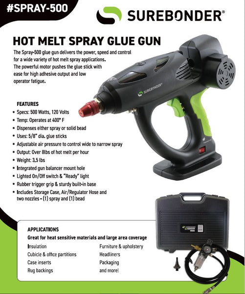Spray-500 500 Watt Hot Melt Spray Glue Gun