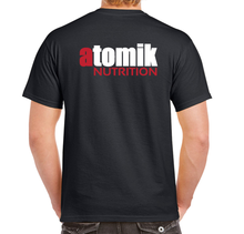 Load image into Gallery viewer, Atomik Nutrition T-Shirt Black