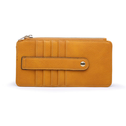 Saige Slim Card Holder Wallet Mustard
