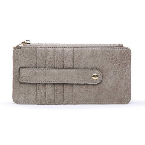Saige Slim Card Holder Wallet Stone