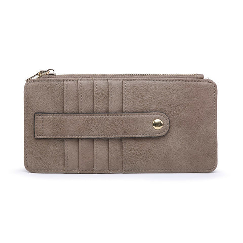 Saige Slim Card Holder Wallet Clay