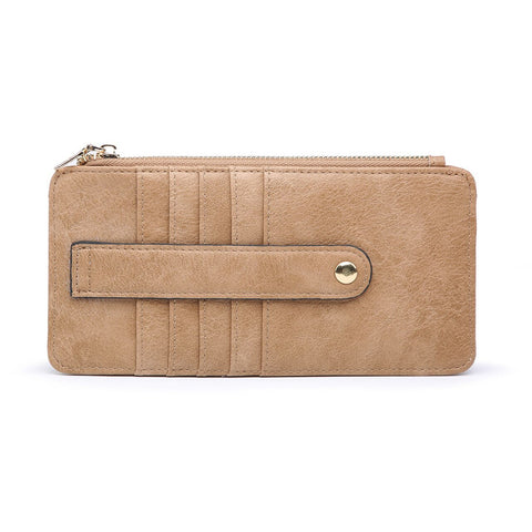 Saige Slim Card Holder Wallet Mocha