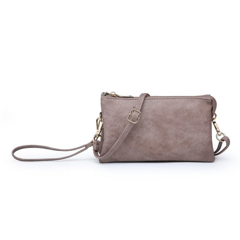 Riley Compartment Wristlet Crossbody Warm Taupe