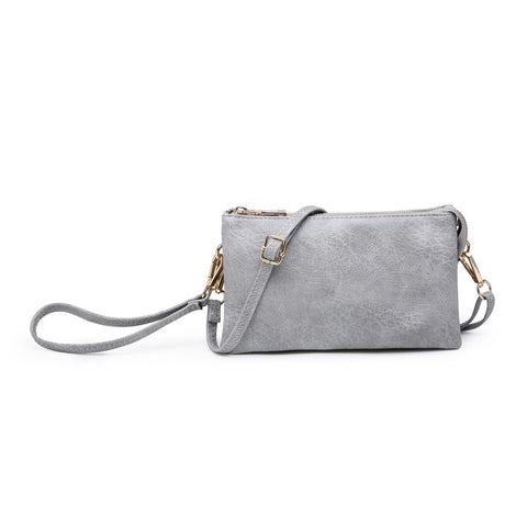 Riley Compartment Wristlet Crossbody Blue Gray
