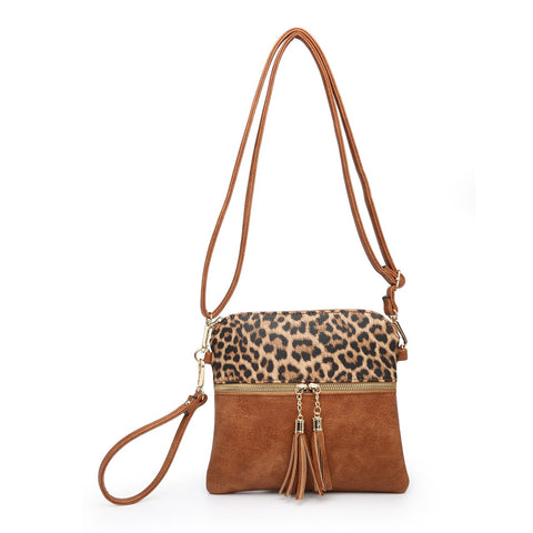 Tara Crossbody Safari Collection Leopard Mustard