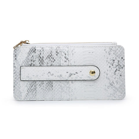 Saige Wallet Safari Collection Metallic Python Pattern