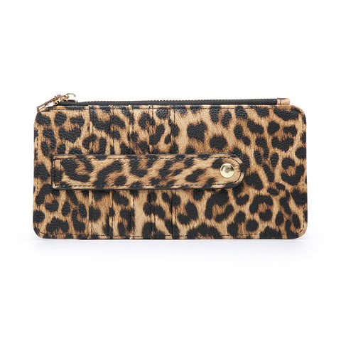 Saige Wallet Safari Collection Leopard Mustard