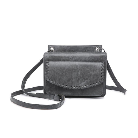 Evelyn Crossbody Wallet Smoke