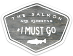 Salmon Are Running Vinyl Sticker