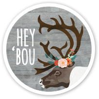 Hey 'Bou Vinyl Sticker