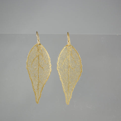 Gold Color Leaf Earrings