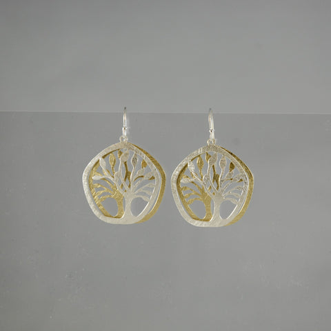 Two Tone Two Piece Tree Earring