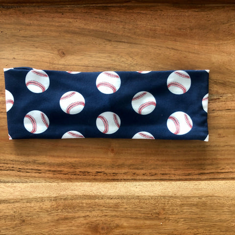 Navy Baseball Headband